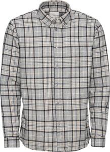 Koszula Minimum z długim rękawem z wełny z klasycznym kołnierzykiem