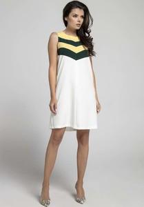 0822de93d5 żółta sukienka trapezowa - stylowo i modnie z Allani