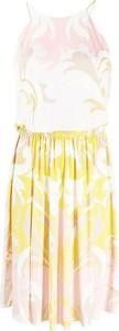 Sukienka Emilio Pucci z okrągłym dekoltem na ramiączkach mini