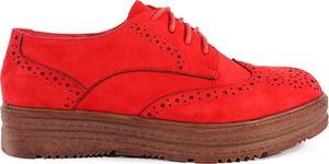 Czerwone półbuty Vices ze skóry ekologicznej
