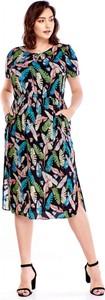 Sukienka BOG-MAR z okrągłym dekoltem