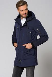Granatowa kurtka LANCERTO w stylu casual z tkaniny