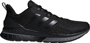 Czarne buty sportowe Adidas Performance sznurowane w sportowym stylu