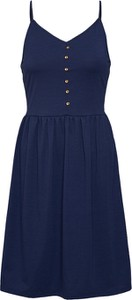 Granatowa sukienka edc by Esprit w stylu casual z dżerseju