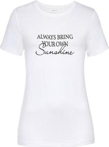 T-shirt bonprix z krótkim rękawem z bawełny