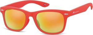 Stylion Okulary przeciwsłoneczne Lustrzanki dziecięce nerdy wayfarer Montana 965B czerwone matowe