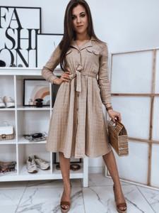 Sukienka Dstreet z długim rękawem midi z dekoltem w kształcie litery v