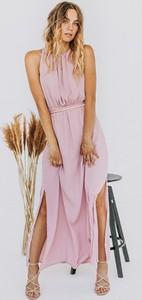 Sukienka Promese z dekoltem w kształcie litery v bez rękawów asymetryczna