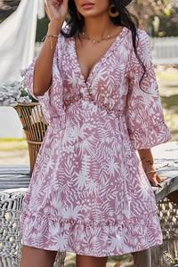 Sukienka IVET kopertowa z długim rękawem mini
