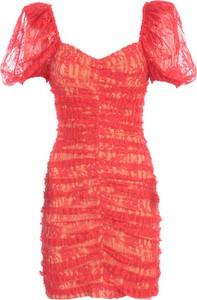 Sukienka Rotate By Birger Christensen mini z krótkim rękawem
