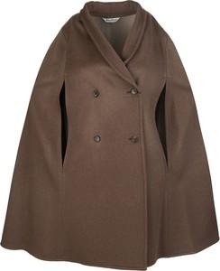 Brązowy płaszcz MaxMara z wełny