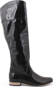 Zapato kozaki - skóra naturalna - model 125 - kolor czarny łapki