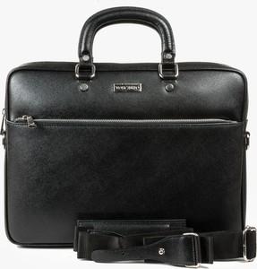 Czarna torba Oleksy ze skóry