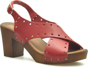 Sandały Lemar z klamrami w stylu casual ze skóry