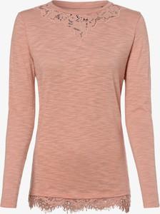 Różowa bluzka Superdry z długim rękawem w stylu casual
