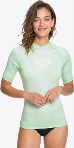 Zielona bluzka Roxy z krótkim rękawem