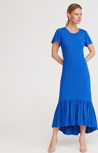Sukienka Reserved z okrągłym dekoltem z krótkim rękawem maxi