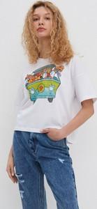T-shirt House z okrągłym dekoltem z bawełny z krótkim rękawem
