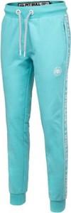 Niebieskie spodnie sportowe Pit Bull West Coast w sportowym stylu z dresówki