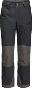 Czarne spodnie dziecięce Jack Wolfskin