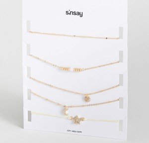 Sinsay - Zestaw chokerów - Beżowy