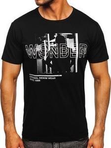 Czarny t-shirt Denley z bawełny w młodzieżowym stylu