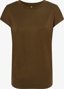 Zielony t-shirt Only w stylu casual z krótkim rękawem