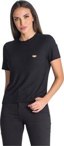 Czarny t-shirt Gianni Kavanagh z okrągłym dekoltem w stylu casual