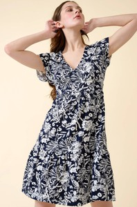 Sukienka ORSAY mini z bawełny z dekoltem w kształcie litery v