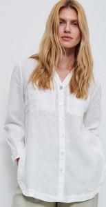 Koszula Reserved z długim rękawem z lnu