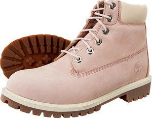 Różowe buty Timberland