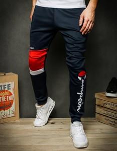 Granatowe spodnie sportowe Dstreet z bawełny