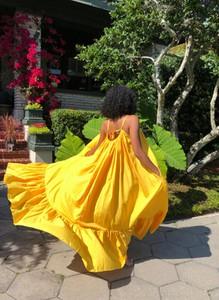 Sukienka Sandbella maxi z długim rękawem z dekoltem na plecach