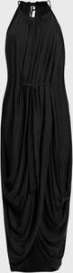 Sukienka AllSaints z dzianiny bez rękawów z dekoltem halter