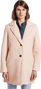 Różowy płaszcz Tom Tailor z wełny w stylu casual