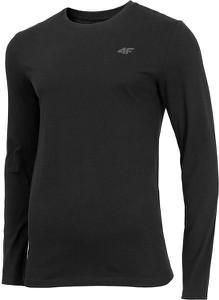Czarna koszulka z długim rękawem 4F z długim rękawem