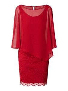 Czerwona sukienka Vera Mont z długim rękawem w stylu casual