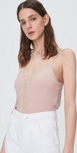 Różowy top Sinsay w stylu casual