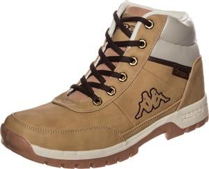 Brązowe buty trekkingowe Kappa sznurowane