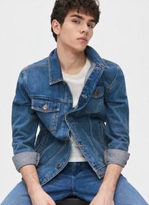 Niebieska kurtka Cropp z jeansu w stylu casual