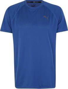 Niebieski t-shirt Puma z dżerseju