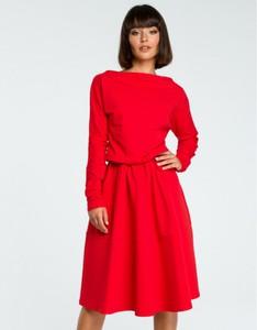 Czerwona sukienka Be midi