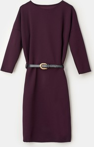 Fioletowa sukienka Mohito z długim rękawem