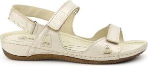 Sandały Helios w stylu casual ze skóry na rzepy