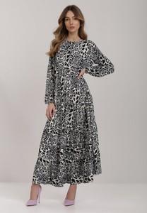 Sukienka Renee trapezowa z długim rękawem