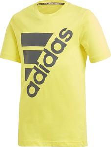 Koszulka dziecięca Adidas z krótkim rękawem z dzianiny