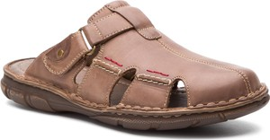 Brązowe buty letnie męskie Lasocki For Men