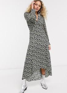 Sukienka Topshop z długim rękawem maxi