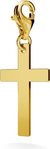GIORRE SREBRNY CHARMS KRZYŻ 925 : Kolor pokrycia srebra - Pokrycie Żółtym 24K Złotem