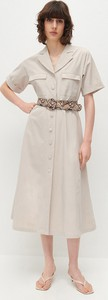 Sukienka Reserved szmizjerka w stylu casual midi